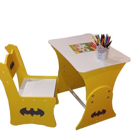 Детский столик Бетмен, растущая парта, столик 2-7 лет