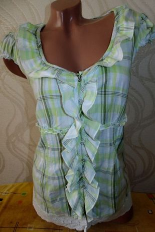 Милая блуза,туника,футболка 48-50р ,хлопок