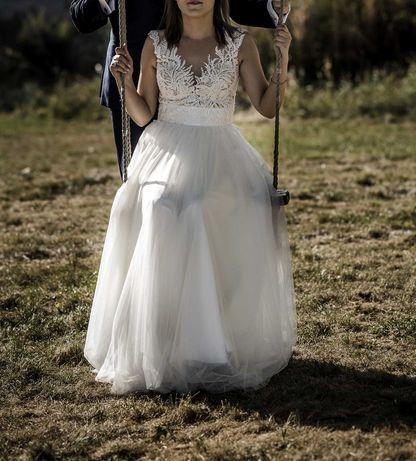 Suknia ślubna. Gratis welon i ozdoba do włosów
