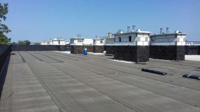 Dachy płaskie,tarasy,hydroizolacja,papa termozgrzewalna,remonty,balkon