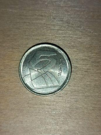 Hiszpania 2000 r. 5 Ptas, moneta