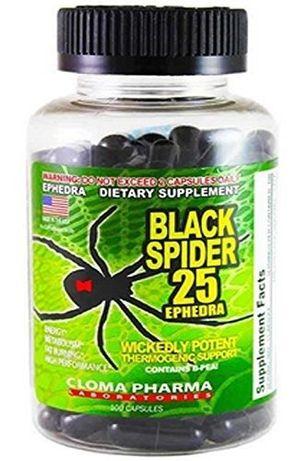 Black Spider 100caps Cloma Pharma Original Spalacz+GRATIS