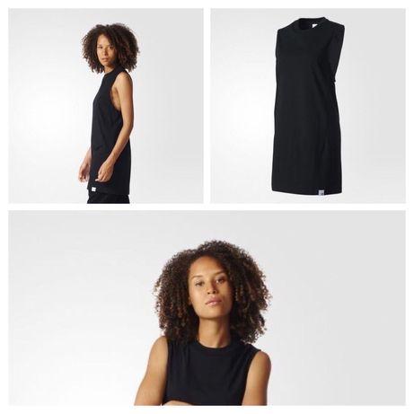 Черное платье-майка Adidas, XS.
