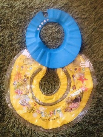 Двусторонний круг для плавания+бортик для мытья головы