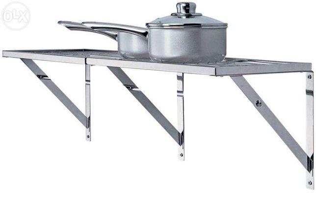 Metalowa półka na przybory kuchenne CHROM - idealna do spiżarni itp