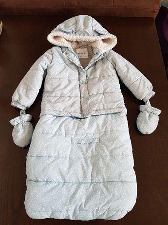 kurtka zimowa śpiworek
