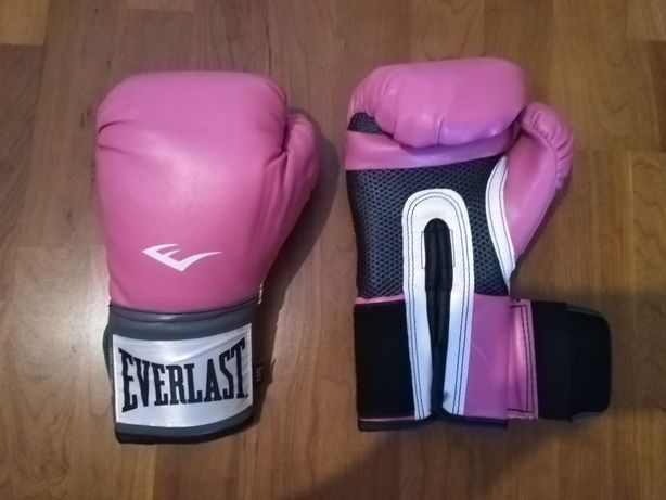 Luvas box rosa Everlast