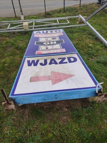 pylon cenowy pylon reklamowy podświetlany tablica wieża stacja paliw