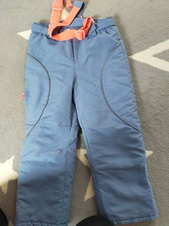 Spodnie narciarskie 5-10-15 r. 122 drugie gratis