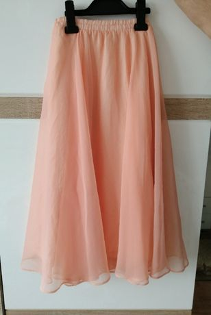 Spódnica tiulowa na gumce roz. S łososiowa wiosna lato