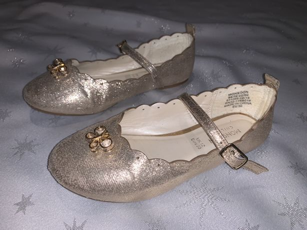 Золотые туфли Monsoon 30p( 19,5см)