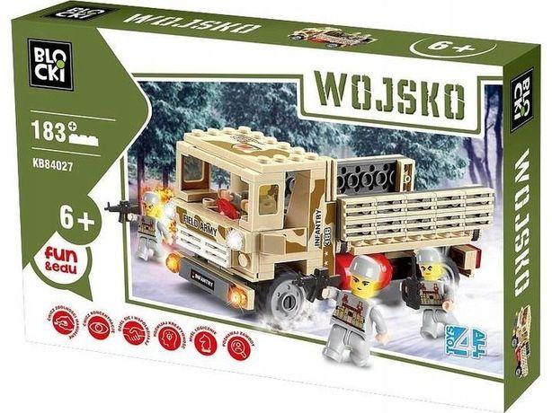 Klocki Blocki Armia Wojsko Samochód Ciężarówka 183 El