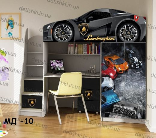 Детская кровать машина чердак - Отличное решение 3в1 Бесплатная достав