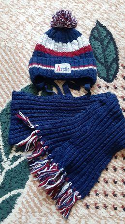 Шапка и шарф на 3-5лет