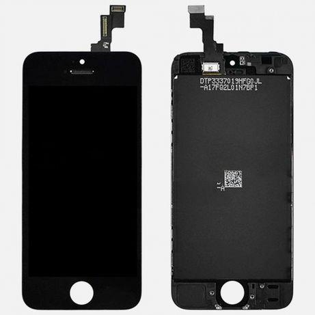Ecrã LCD + Touch Screen + vidro para Apple iPhone 5C Preto.