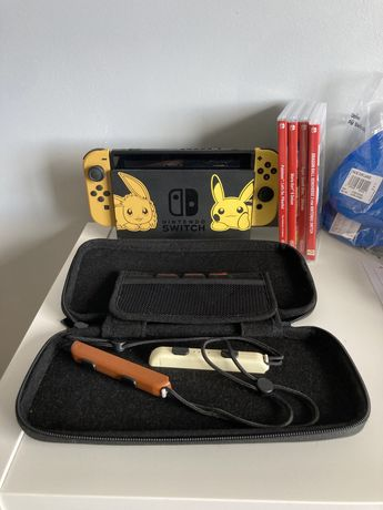 Nintendo switch Special edition Pokemon + jogos