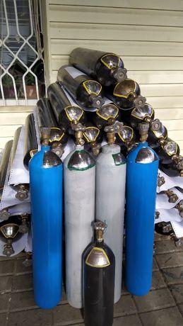 Углекислота кислород аргон гелий баллон 10л и балон 40л СО2