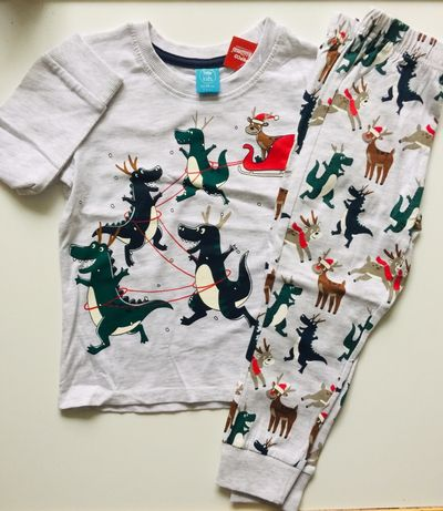 Детская новогодняя пижамка новорічна піжама джордж