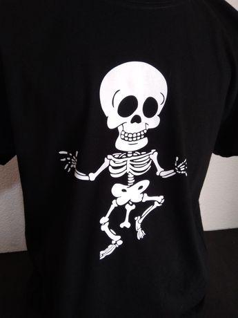 T-shirt engraçada Esqueleto Abonado