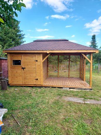 Domek drewniany z altaną VEGAS 5x3
