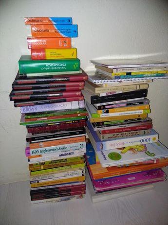 Coleção de 85 livros diversos