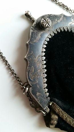Сумка женская 1738 года серебро 256гр