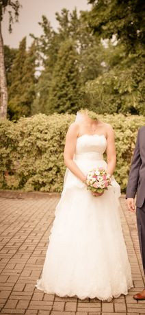 Suknia ślubna Papilio 1424 Delfina + buty + welon