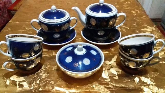 Сервиз чайный кобальтовый