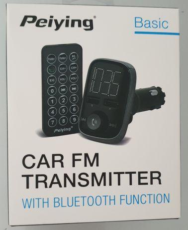 CAR FM transmitter bluetooth PEIYING pilot muzyka i telefon ładowarka