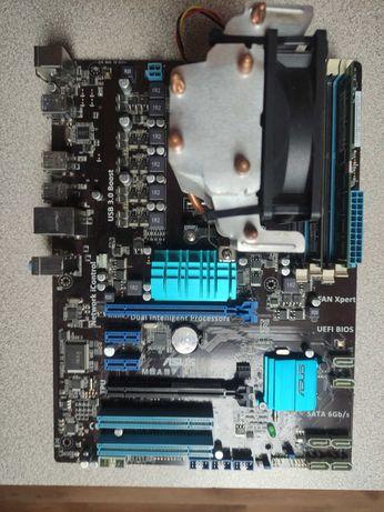 Płyta główna Asus m5a97 le, amd fx 8320 układ chłodzenia oraz ddr3 8gb