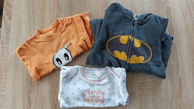 Komplet 3 sztuki halloween kombinezon batman bluzka body
