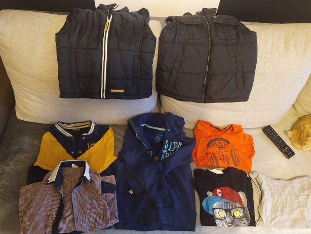 Paka ubrań chłopiec 116-128 zestaw 8szt