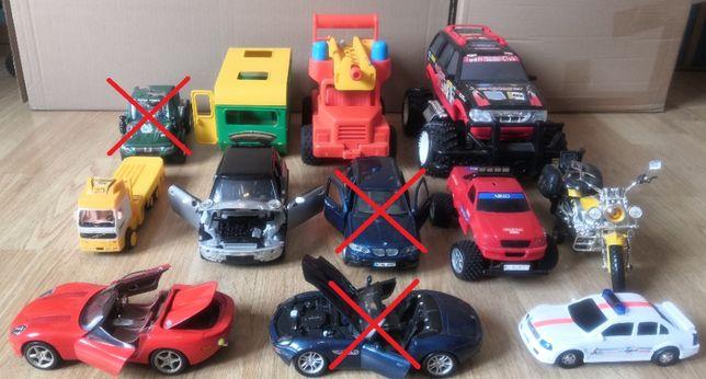 Zabawki samochody | Motocykl | 9 sztuk | Jaguar Ford Harley | Stan BDB