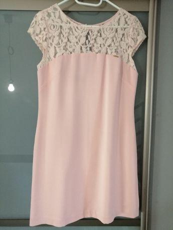 Sukienka r.38M jasny róż wesele,chrzciny