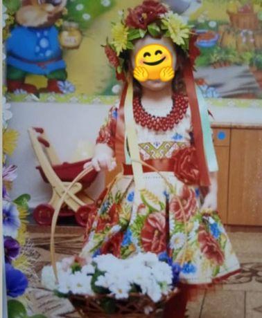 платье в украинском стиле (вышиванка)98-104р.3-4года
