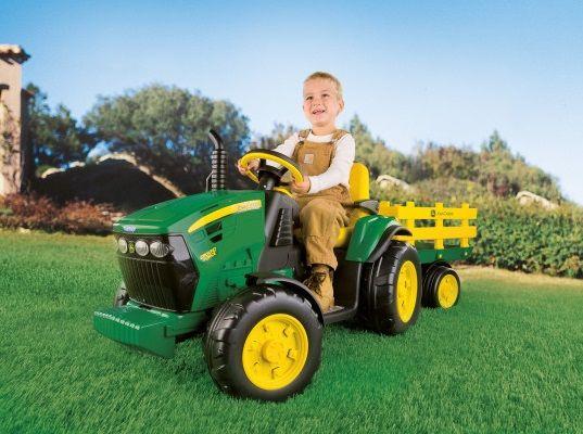 ** NOWY JOHN DEERE traktorek na akumulator z przyczepa Peg Perego **
