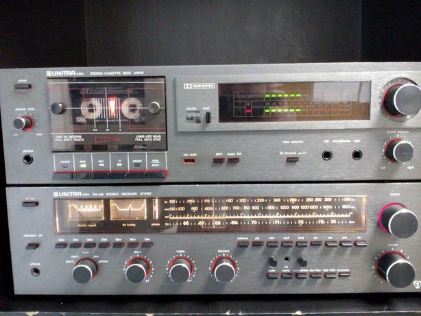 Amplituner Unitra M9100 + Magnetofon Unitra Deck M9115