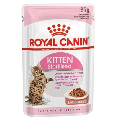 Royal Canin Kitten Sterilised w sosie saszetki 24x85g