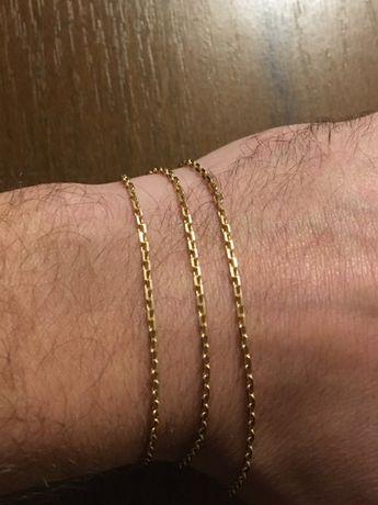 Золотая цепочка якорь якорного плетения 585 проба 5,45 гр, 50 см