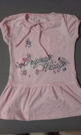 Różowa bluzka dla dziewczynki 122