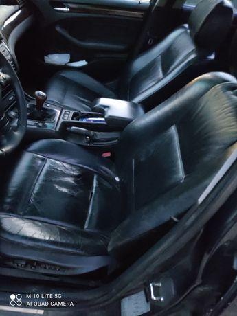 Fotele BMW seria 3 E46 sedan czarna skora