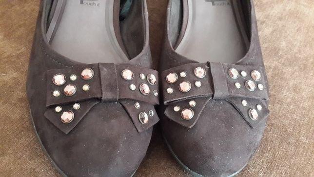 новые туфли балетки замш натуральная кожа стелька 28 см размер 41-42