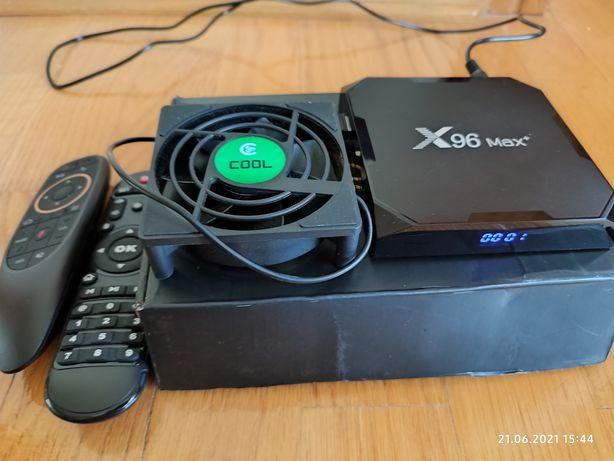 TV android приставка X96 max plus 4/32 + аеро пульт g10s pro + кулер.
