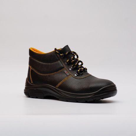 БОТИНКИ Мужские КОЖАНЫЕ. Рабочая обувь защитная. Зимняя не высокие