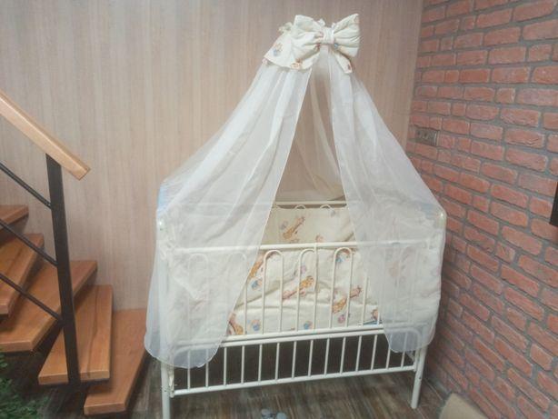 Манеж - кровать металлический