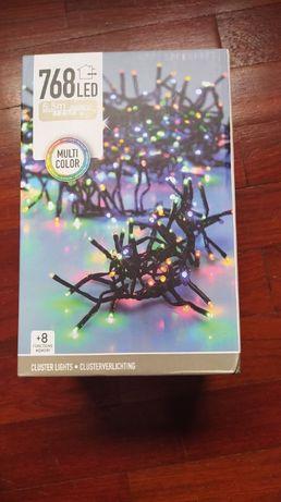 Luzes/ Grinalda luminosa 768 LED Multicolor, já com portes incluídos