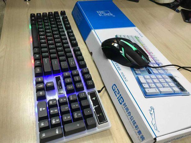 Игровой набор клавиатура и мышка Gaming  G21B с RGB подсветкой