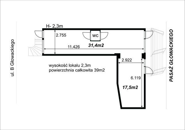 lokal 40m2 Głogów Głowackiego dobra lokalizacja