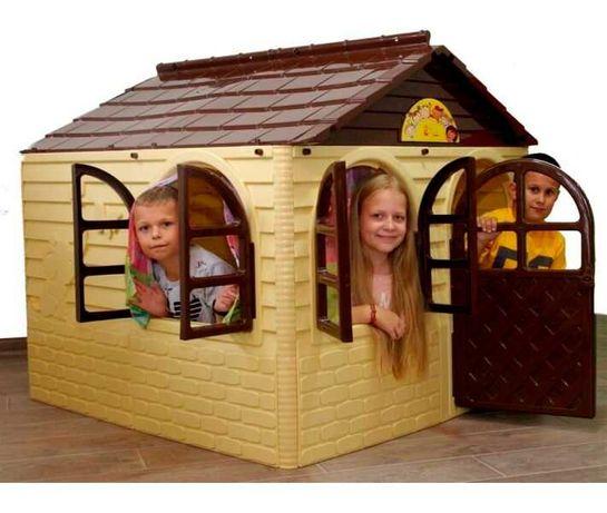 Акция! Детский игровой пластиковый домик со шторками ТМ Doloni Большой