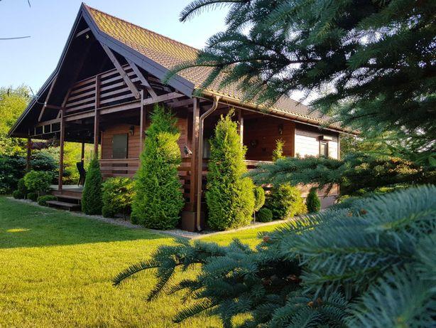 Mazury domek drewniany całoroczny nad jeziorem Miłomłyn k/Ostródy